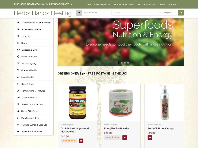 Herbs Hands Healing Magento store